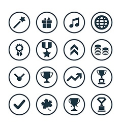 award icons universal set vector image