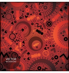 Background with different shapes vector image vector image