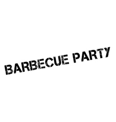 Barbecue party rubber stamp vector