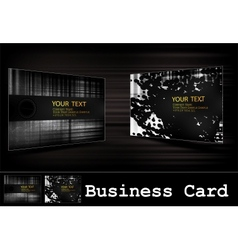 Black business card set vector