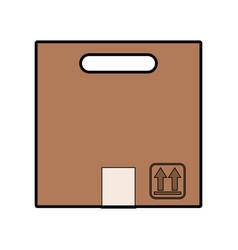Carton packing box icon vector