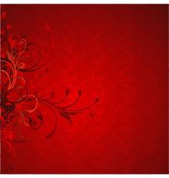 decorative floral vector image
