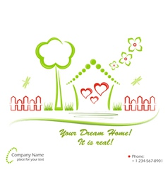 Ecology house vector