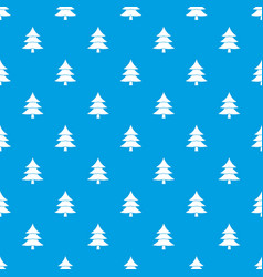 fir tree pattern seamless blue vector image