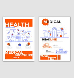 Flyer design-medical flyers vector