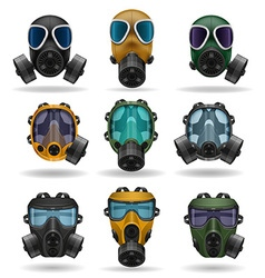 Gas mask 10 vector