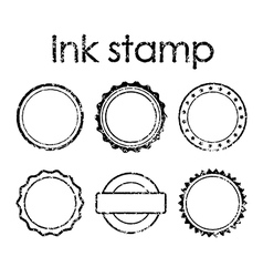 Grunge ink rubber stamp set vector