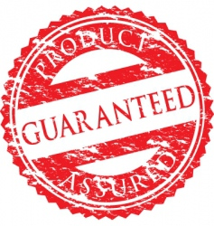 guaranteed logo vector image vector image