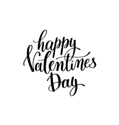 happy valentines day black and white hand written vector image