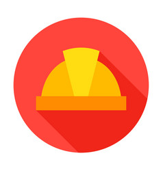 Hard hat circle icon vector