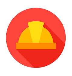 hard hat circle icon vector image