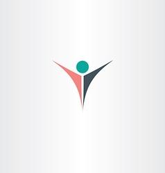Man logo boss winner icon symbol vector