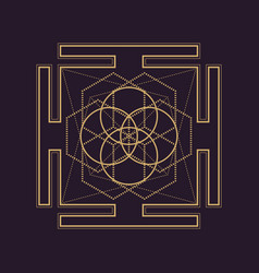 Mandala sacred geometry vector