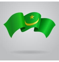 Mauritanian waving flag vector