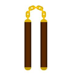 nunchaku weapon icon isolated vector image