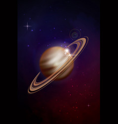 planet saturn background vector image vector image