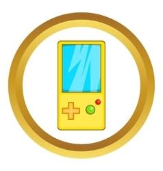 Pocket tetris icon vector