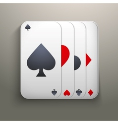 Realistic icon deck of playing cards for casino vector