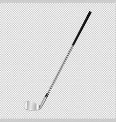 Realistic icon of classic golf club isolated on vector