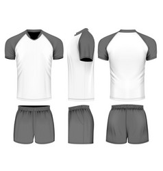 Rugby uniform jersey vector