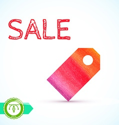 Sale watercolor price tag vector