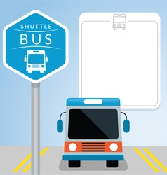 Shuttle Bus with Sign Front View vector image vector image