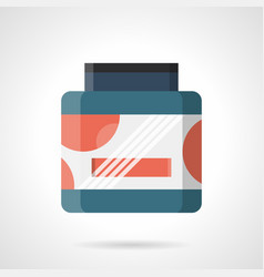 Sport supplements container flat color icon vector
