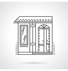 Storefronts flat line icon candy store vector