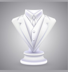 triangle jacket and tie statue vector image