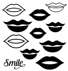 Woman lips design elements vector image vector image