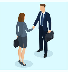 successful businessman and businesswoman vector image