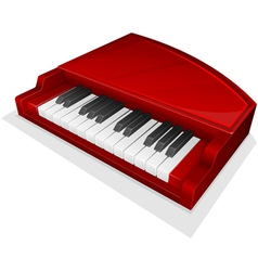 Small red piano vector
