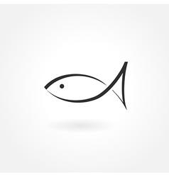 fish symbol icon simple vector image