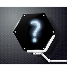question mark on futuristic screen vector image