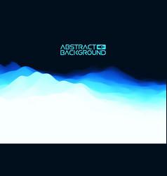 3d landscape abstract blue background blue vector