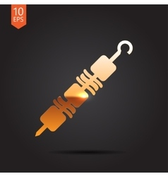 Shashlik icon vector