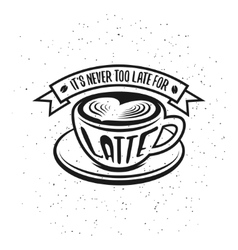 Hand drawn typography coffee poster It is never vector image