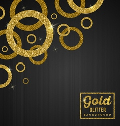 Background with glitter golden rings vector image