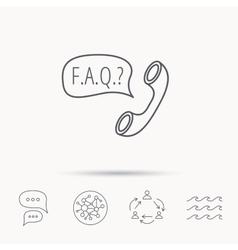 Faq service icon support speech bubble sign vector