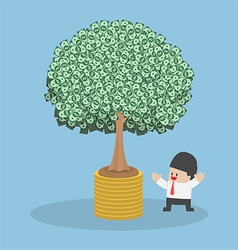Tree growth from money coin vector