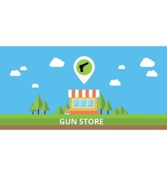 Gun store shop buy pistols icon stock vector