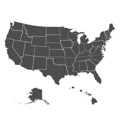 Set of us states vector