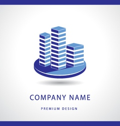Abstract real estate logo design template vector