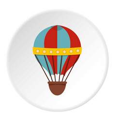 Air balloon journey icon circle vector