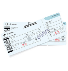 airline boarding pass ticket concept of journey vector image vector image