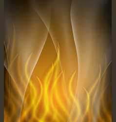 Background template with orange flames vector