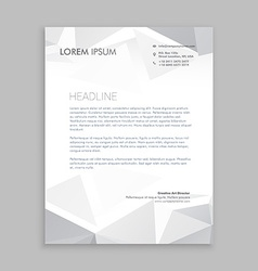 beautiful low poly letterhead design vector image