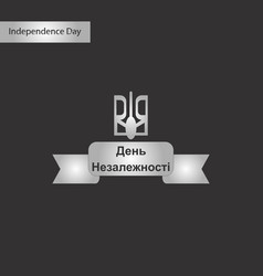 black and white style icon of ukraines vector image vector image