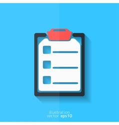 Clinical reportmedical data icon vector image