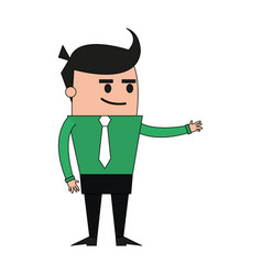 Color image full body cartoon business man vector